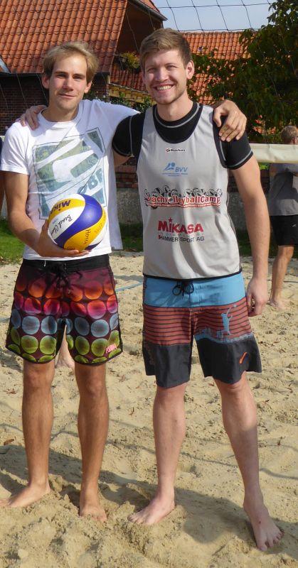 Seriensieger in der Süd-Staffel bei den Herren sind Lukas Göckeritz und Jan Ballowitz von den Sandtümmlern.
